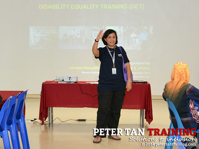Opening speech by Prof Dr Nazirah Hasnan before commencement of Disability Equality Training Workshop